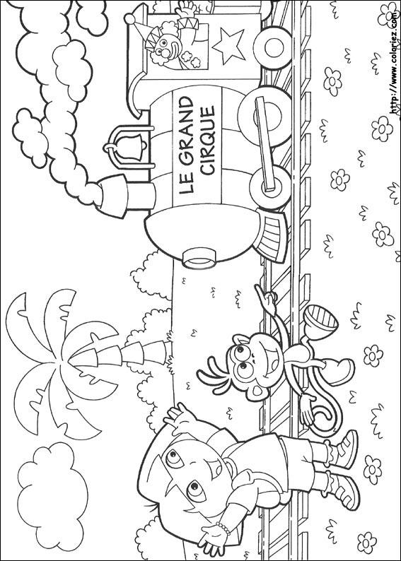 Coloriage Princesse Cirque.Coloriage Le Train Du Grand Cirque
