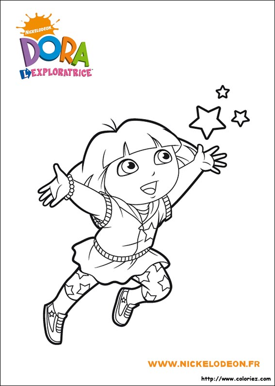 Dessin dora - Coloriages dora ...
