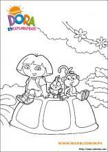 Coloriage dora l 39 exploratrice choisis tes coloriages dora - Dora a la plage ...