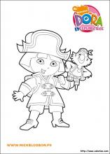 Coloriage de Dora pirate