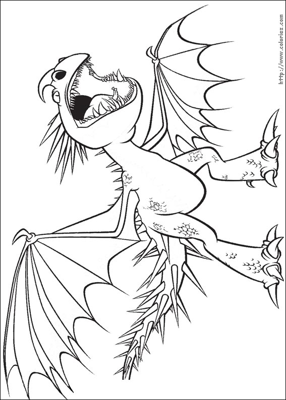 Coloriage coloriage du dragon vip re - Coloriages de dragons ...