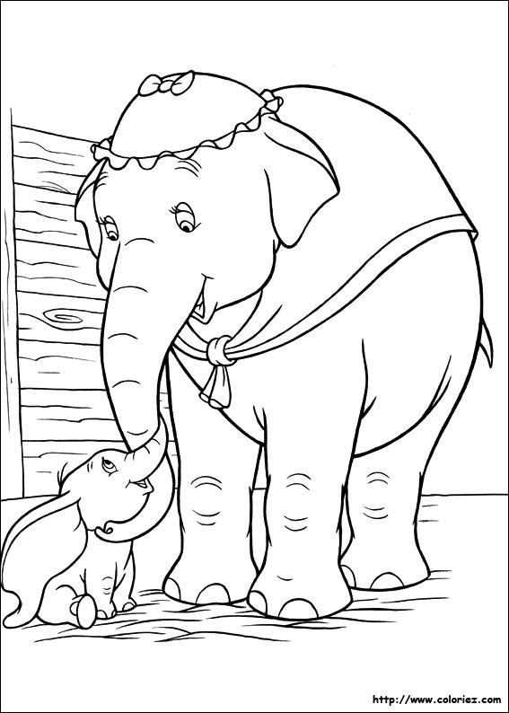 Coloriage Bebe Elephant.Coloriage Maman Et Bebe Elephant