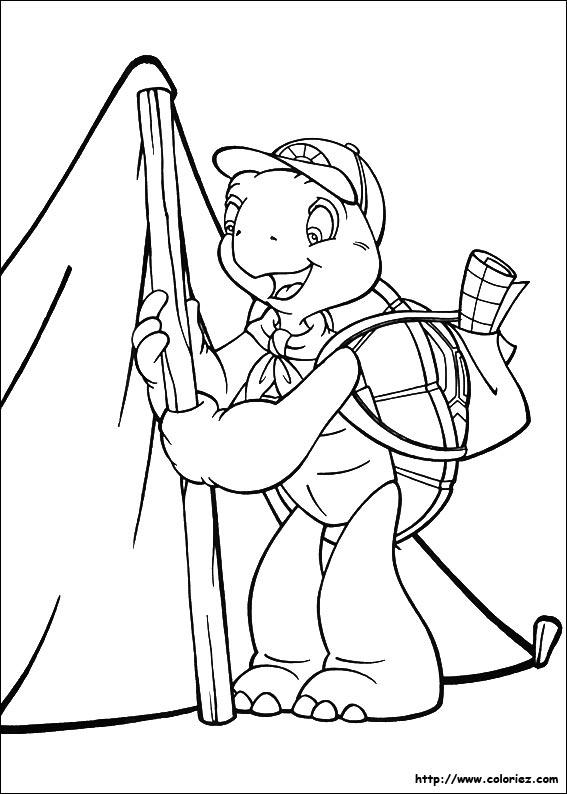Coloriage franklin plante la tente - Dessin franklin ...