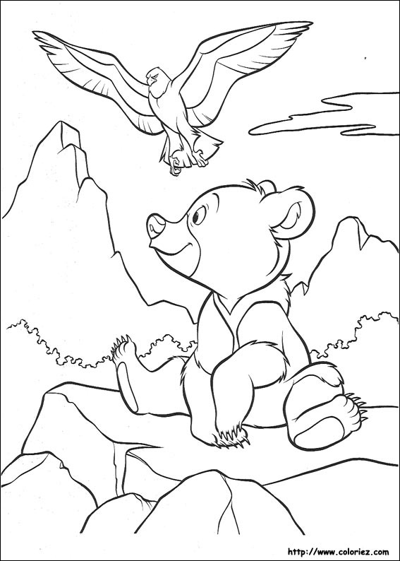 coloring pages brother bear - Brother Bear Moose Coloring Pages