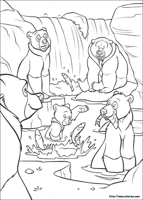 coloring pages brother bear