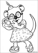 Coloriage de Mitzi photographe