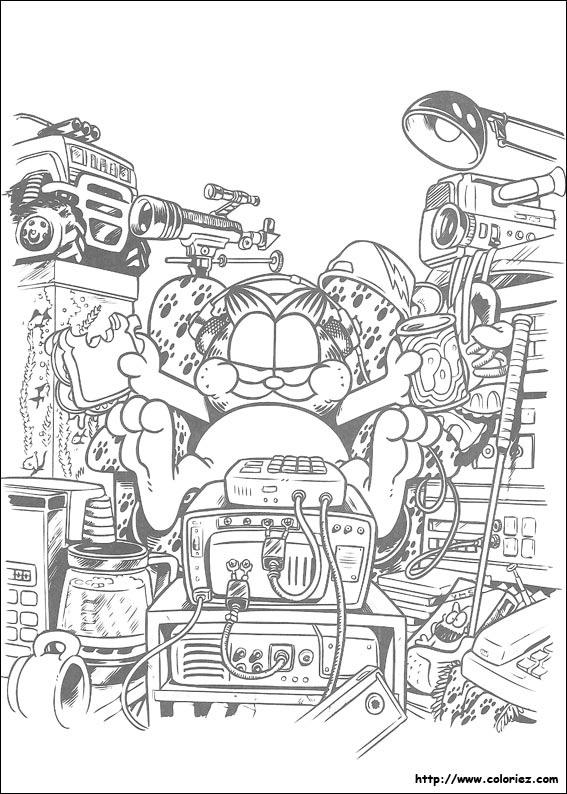 Dessin garfield a imprimer - Garfield coloriage ...