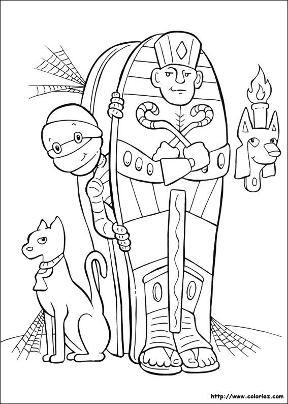 Coloriage la momie d 39 halloween for Mummy coloring pages halloween