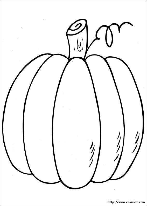 Coloriage grosse citrouille - Citrouille halloween dessin couleur ...