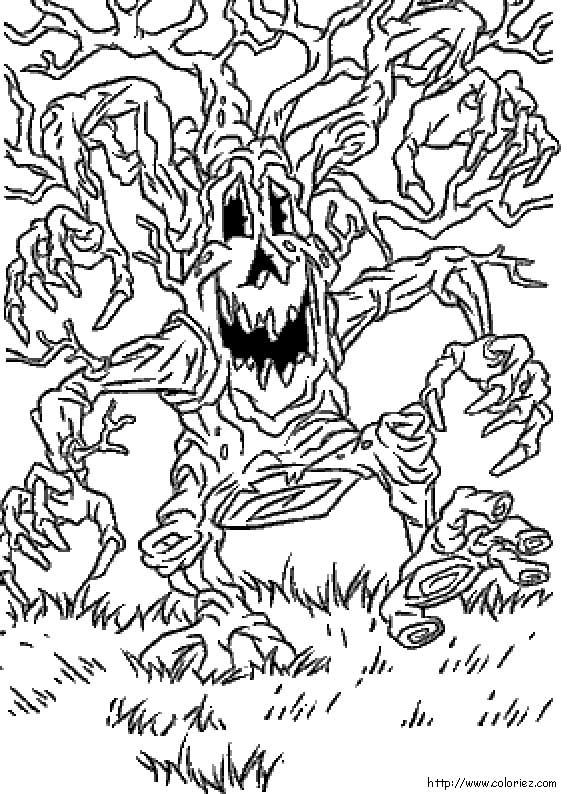 Coloriage l 39 arbre mal fique - Dessin de malefique ...