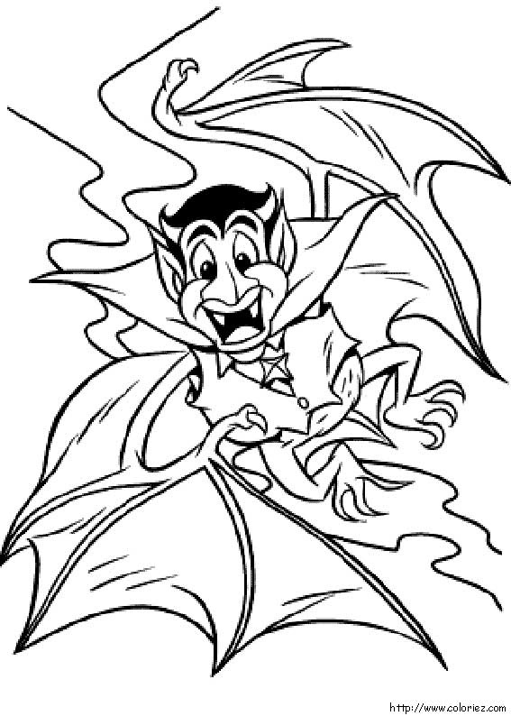 Coloriage un vampire terrifiant - Coloriage de vampire a imprimer ...