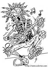 Coloriage Halloween Rock'n roll