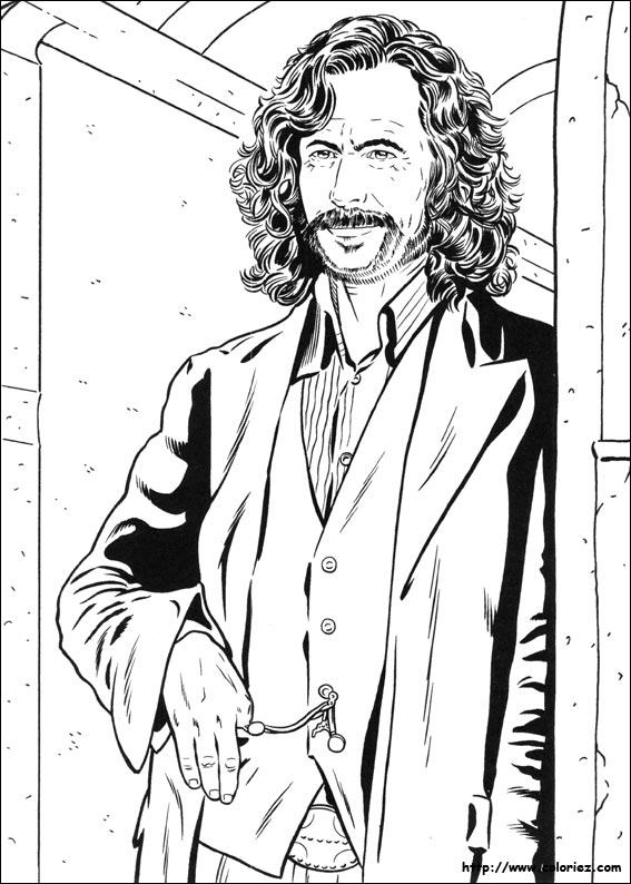 coloriage de sirius black
