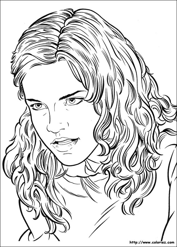 Coloriage coloriage portrait d 39 hermione - Coloriage harry potter ...