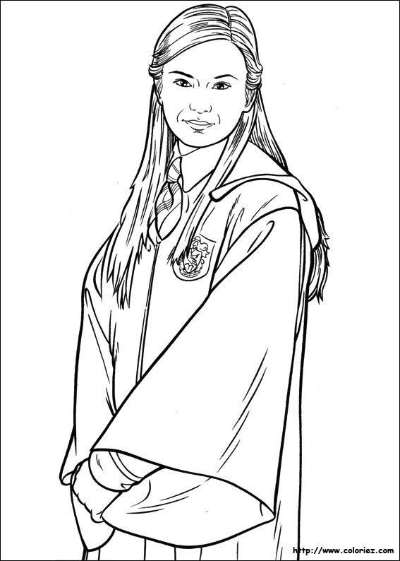 Coloriage coloriage de cho chang - Coloriage harry potter ...