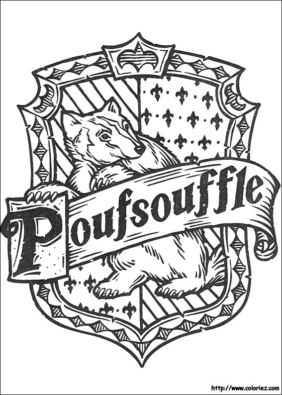 Coloriage coloriage poufsouffle - Coloriage harry potter ...