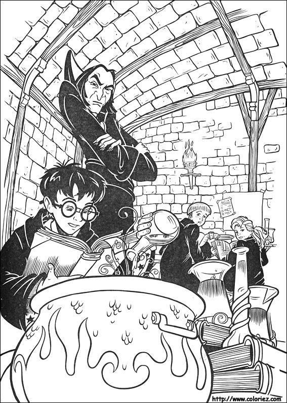 Coloriage Harry potion