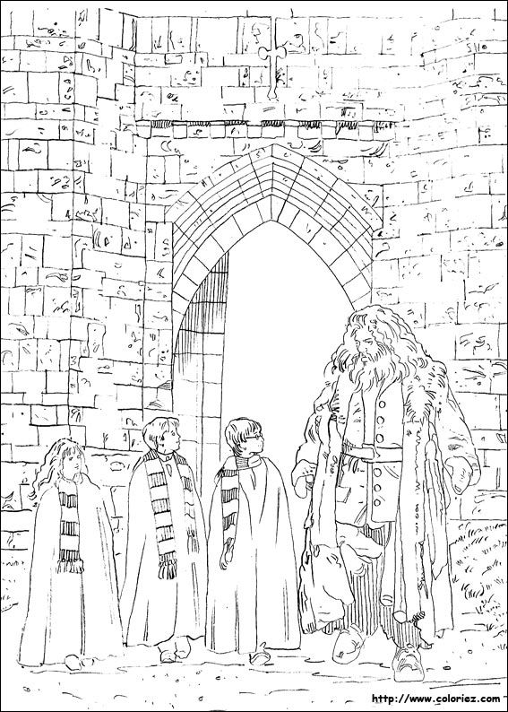 Harry Potter Coloring Pages Book Four