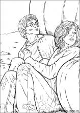 Coloriage Harry et Hermione se cachent
