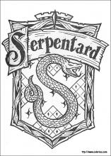 Coloriage Serpentard