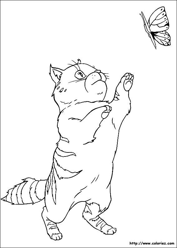 Coloriage le chat d 39 heidi - Coloriage heidi ...