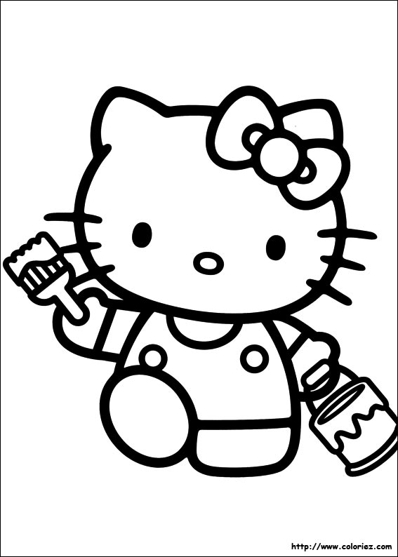 Destroyah coloring page coloring pages - Coloriage hello kitty ...