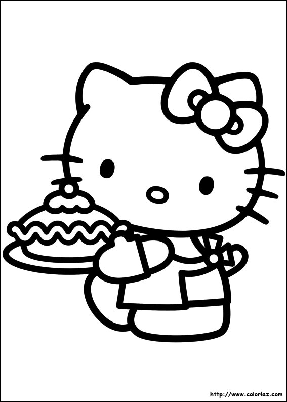 Coloriage kitty patissi re - Coloriage hello kitty cirque ...