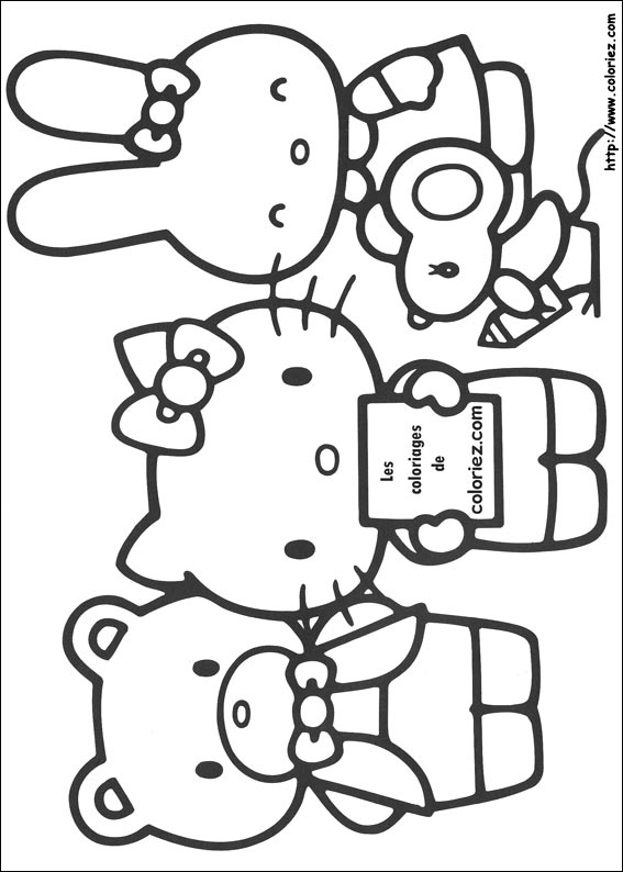 Coloriage a imprimer hello kitty - Coloriage hello kitty jeux ...