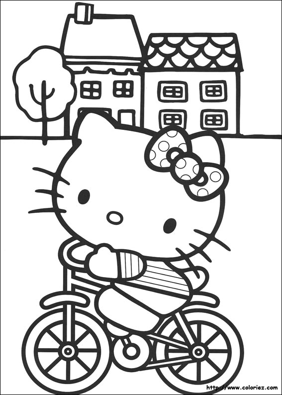 nice Coloriage Gratuit Hello Kitty #14: coloriage-hello-kitt.