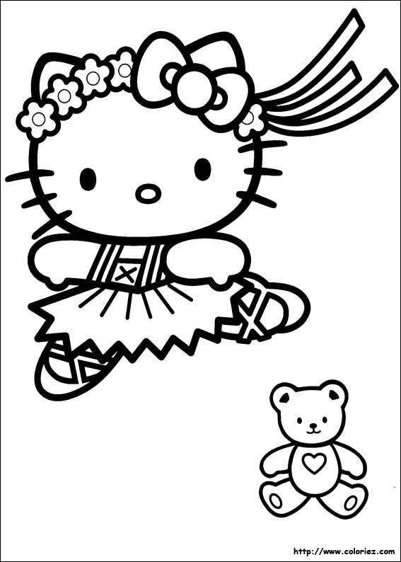 Coloriage kitty danseuse - Coloriage hellokitty ...