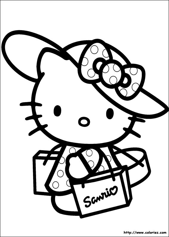Dessin vacance - Coloriage hello kitty ...