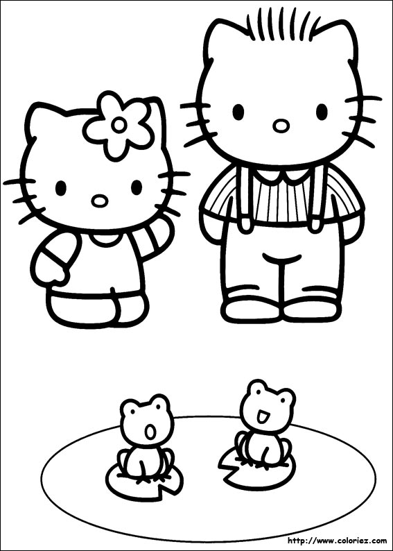Dessin imprimer hello kitty - Coloriage hello kitty ...