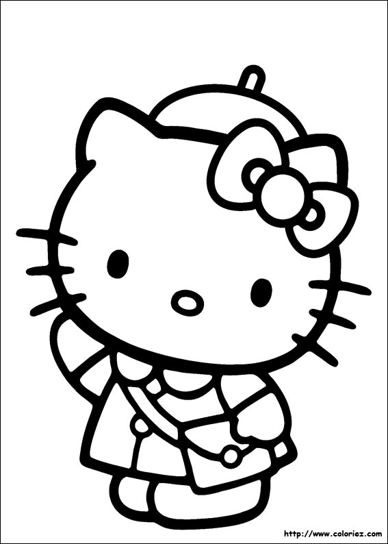 Hello kitty image a colorier - Coloriage hello kitty ...
