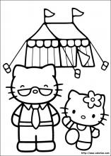 Coloriage Hello Kitty Cirque.Index Of Images Coloriage Hello Kitty Miniature