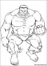 les coloriages de hulk