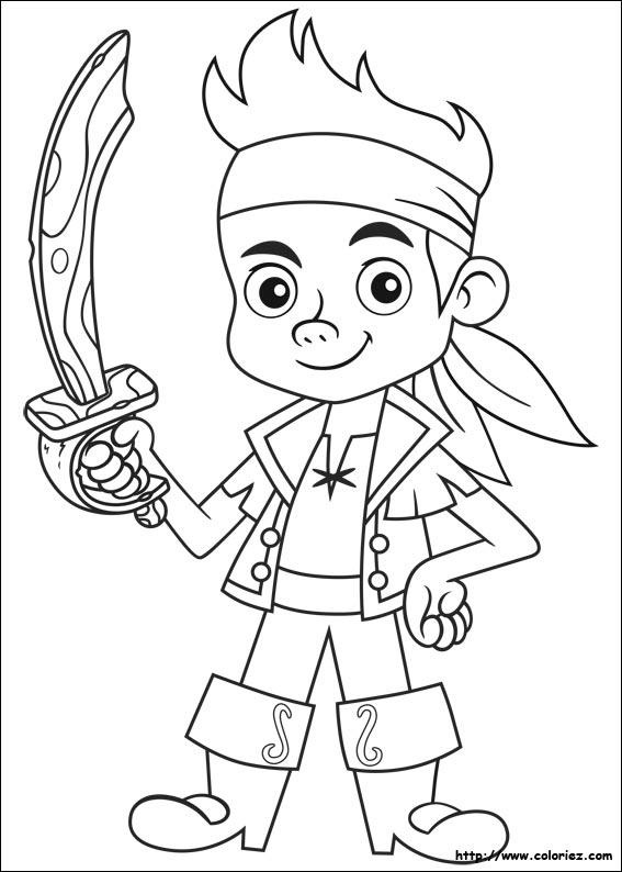 Coloriage Jake et les pirates du pays imaginaire, choisis tes ...