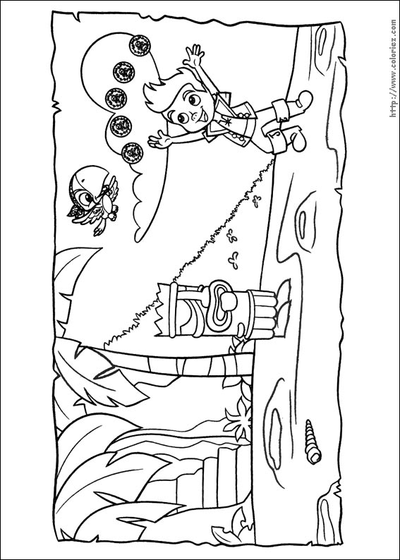 Jake And Izzy Coloring Pages