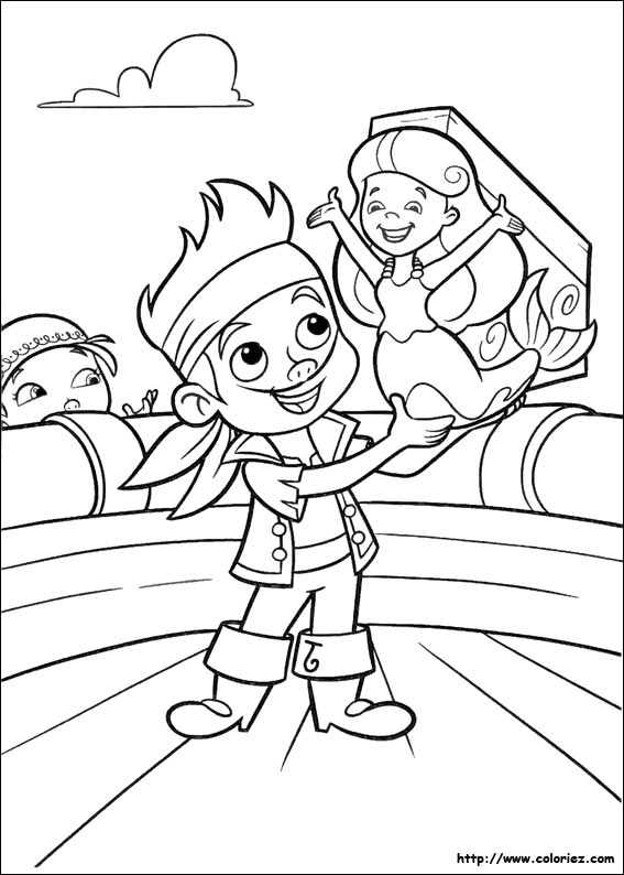 Coloriage jake et la sir ne - Coloriage jack le pirate ...