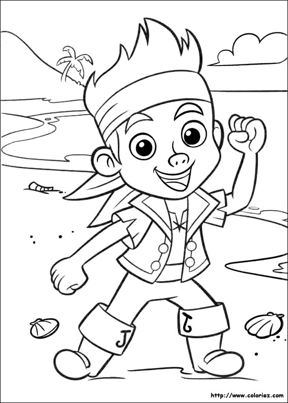 Coloriage capitaine jake - Coloriage jack le pirate ...