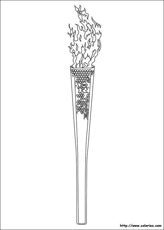 Coloriage la flamme olympique - Flamme olympique dessin ...