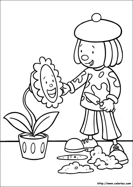 Coloriage coloriage de jojo et la fleur - Coloriage la fleur ...