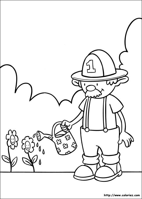 Coloriage coloriage du jardinage for Dessin outils jardinage