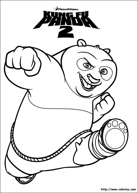 Coloriage l 39 affiche - Dessin kung fu panda ...