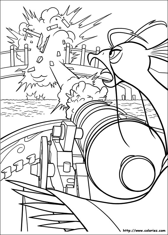 Coloriage coloriage des canons qui grondent - Coloriage kung fu panda ...