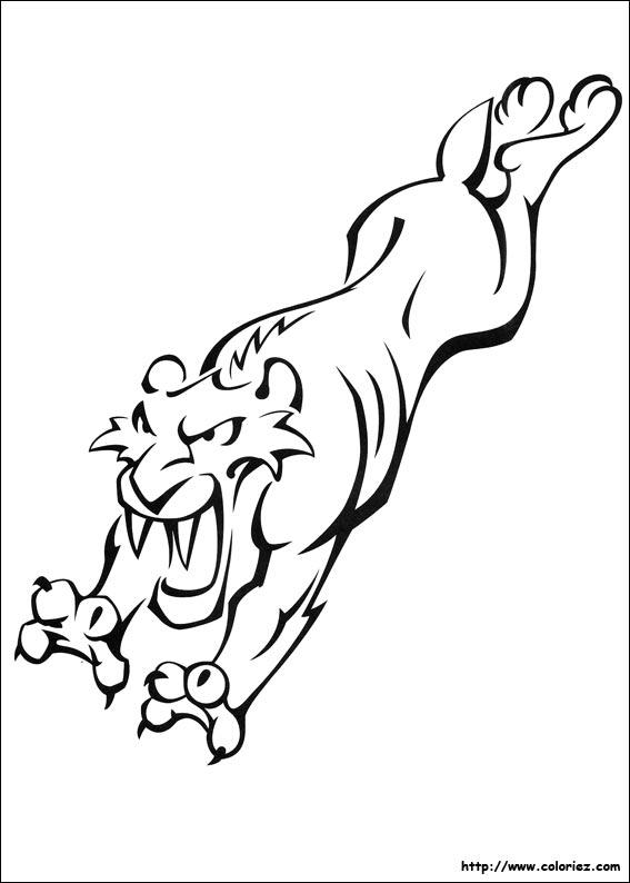 Coloriage De Diego Le Tigre De L Age De Glace