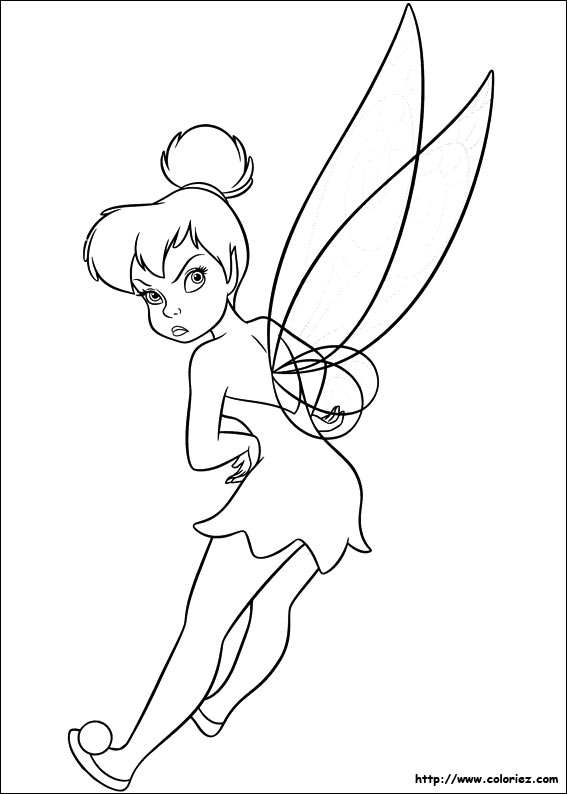 Coloriage f e ronchon - Dessin anime de fee clochette ...