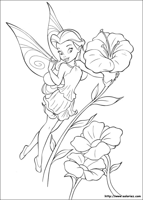 Coloriage ros lia - Coloriage fee clochette ...