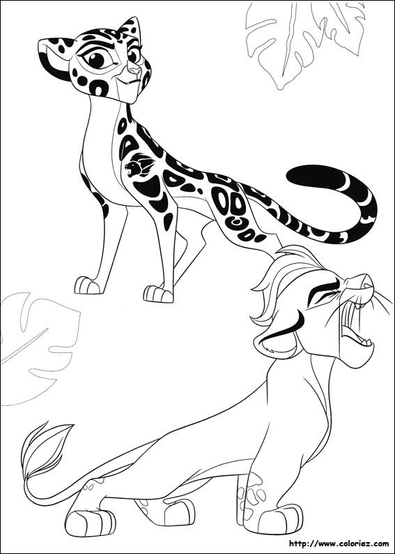Coloriage fuli et kion - Coloriages lion ...