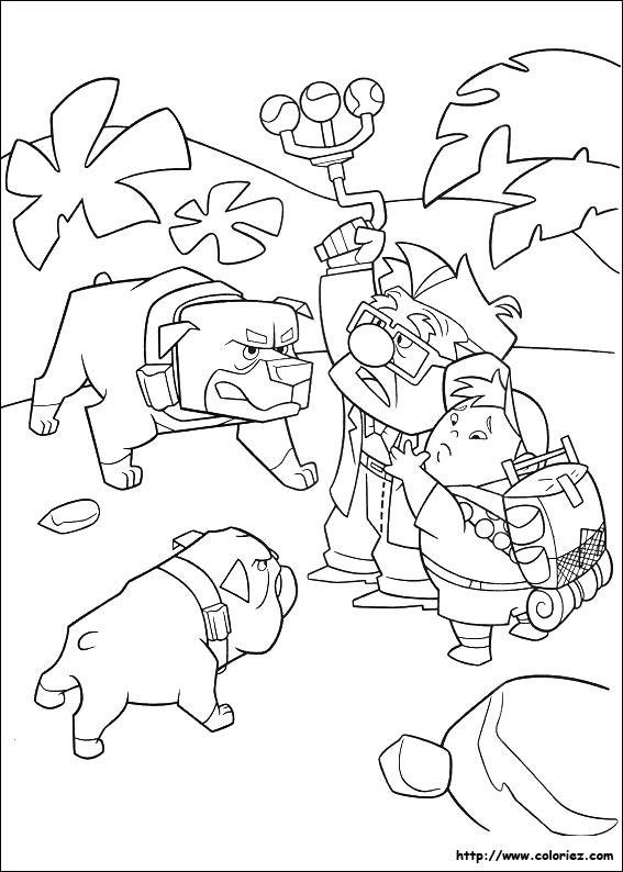 Coloriage les chiens contre carl - Coloriage la haut ...