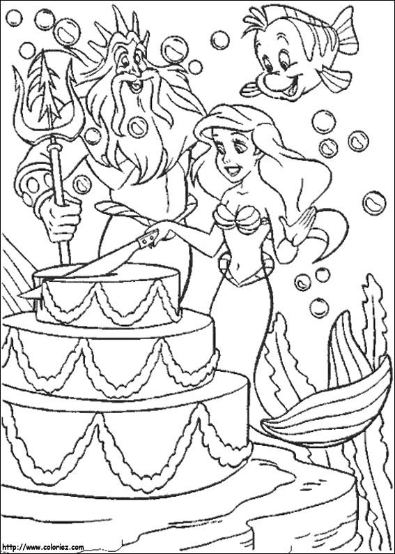 Index Of Images Coloriage La Petite Sirene